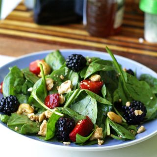 Berry Spinach Salad with Honey Balsamic Vinaigrette