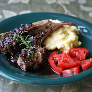 Lamb Chops in Balsamic Reduction Glaze