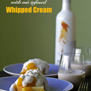 Mango Shortcake with mü Infused Whipped Cream